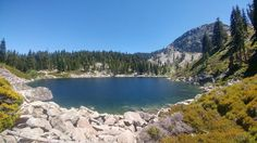 Hiked for over an hour basically straight uphill for this. Absolutely worth it. Deadman Lake, Sierra County, CA. - Imgur