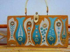 """Incredible """"Fintasia"""" box bag by Enid Collins.  Wish it were mine."""