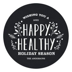 Happy Healthy Holiday | Holiday Photo Card Personalized Invite