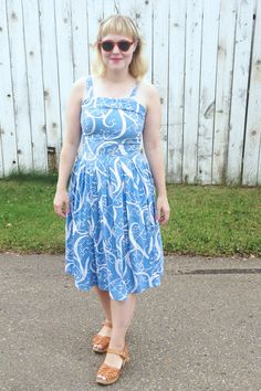 1940s blue dress