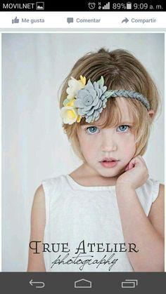 177320fc604b Kaylee soft felt yellow and grey braided headband for little girls
