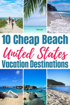 If you are looking for a places to travel for a cheap beach vacation in the USA this year, you will love these beautiful USA beaches for an affordable family beach trip. Cheap Beach Vacations Usa, Cheap Family Vacations, Vacations In The Us, Dream Vacations, Beach Travel, Beach Trip, Travel Usa, Beach Fun, Best Places To Travel
