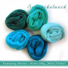 Wolle Farbmischungen, Gefärbte Seidenfasern