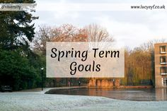 Goals for Spring Term of Second Year at the University of York 1