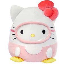 Hello Kitty Plush, Sanrio Hello Kitty, Pink Hello Kitty, Pillow Pals, Cute Squishies, Cute Stuffed Animals, Plush Dolls, Animal Pillows, Plushies