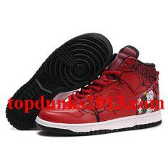 finest selection 3d970 61bf7 Battle Beast Red Black Nike Dunk High Top Men Discount