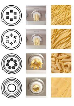 Create the best homemade pasta in 10 minutes with Philips Pasta Maker! Find out more about the power of Philips fully automatic electric pasta maker. Pasta Bar, Homemade Recipe Books, Homemade Pasta, Phillips Pasta Maker Recipes, Machine A Pate Fraiche, Pasta Types, Noodle Maker, Lemon Pasta, Pasta Machine