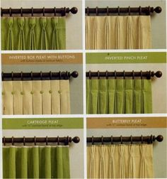 Curtain tops & how to do them