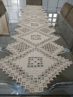 Free Patterns Archives - Beautiful Crochet Patterns and Knitting Patterns Crochet Table Runner Pattern, Crochet Doily Patterns, Crochet Tablecloth, Crochet Diagram, Filet Crochet, Crochet Motif, Crochet Doilies, Crochet Lace, Knitting Patterns