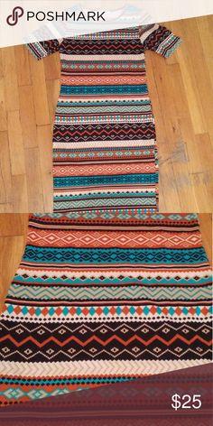 Selling this Body-con tribal print sweater dress on Poshmark! My username is: chamuba. #shopmycloset #poshmark #fashion #shopping #style #forsale #boutique  #Dresses & Skirts