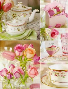This has it all for me.  My love of posies, tea and my lust for sugar.