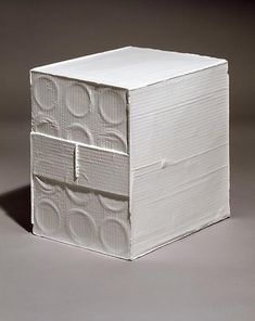 Rachel Whiteread White box, 2006 Hand painted bronze Edition of 3 and 1 artist's proof 11 3/4 x 9 1/2 x 12 1/4 inches  (30 x 24 x 31 cm)
