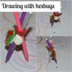 Drawing with hexbugs.                          Gloucestershire Resource Centre http://www.grcltd.org/home-resource-centre/