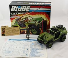 Gi Joe Vamp Straight Arm Clutch 1982 Box Extra Blueprint Vintage Vehicle | eBay