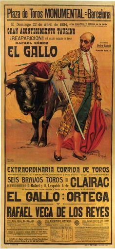 Antiguo cartel de Corrida  de Toros