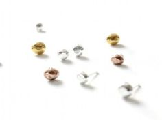 Raw stud earrings