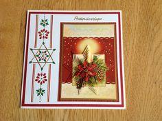 Pyramid Christmas card with Hobby Dots - Pyramide kerstkaart met Hobby Dots