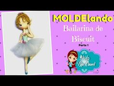 Bailarina de Biscuit - Parte 1 - MOLDElando - YouTube Fondant Figures Tutorial, Cold Porcelain, 1, Ballet, Dolls, Youtube, Disney Princess, Disney Characters, Clay Tutorials