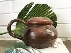 Vintage Studio Pottery Stoneware Kettle