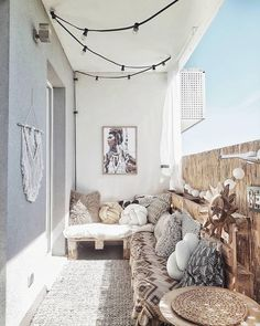 Describe this cozy balcony in one word! Discover eDescribe this cozy balcony in one word! Discover ePray for surf wall art, surf summer decor, trendy cozy balcony decor, diy decor ideas, printable art - My Small Balcony Garden, Small Balcony Decor, Balcony Ideas, Patio Ideas, Small Patio, Outdoor Balcony, Small Balconies, Balcony Railing, Terrace Ideas