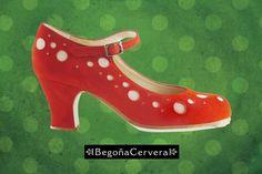 https://www.tamaraflamenco.com/es/zapatos-de-flamenco-profesionales-4 Zapato profesional de flamenco Begoña Cervera Modelo Topos