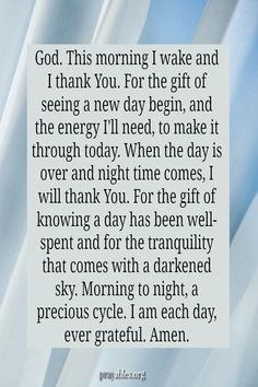 God of new mornings, upon awakening this day, I remember that You are my salvation. May each moment of this day be filled with the brightness of eternal life — which can only be found in You …