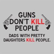 "Funny, my ""not terribly interested in owning a gun"" husband just mentioned buying a gun right after our daughter was born."