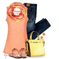 Yellow Coral, created by lagu on Polyvore