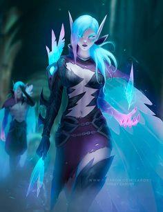 Death Sworn Xayah by https://www.deviantart.com/zarory on @DeviantArt League Of Legends Characters, Female Characters, Lol League Of Legends, Dnd Characters, Fantasy Characters, Character Art, Character Design, Character Ideas, Character Concept