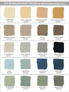 Top Paint Colors - Stellar Interior Design