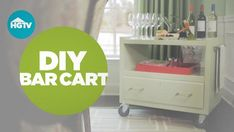 Dan shows you how to upcycle an old TV stand into a cheerful bar cart. Furniture Update, Furniture Makeover, Diy Furniture, Refinished Furniture, Furniture Refinishing, Lounge Furniture, Diy Bar Cart, Bar Carts, Old Tv Stands