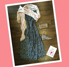 Cold shoulders? A scarf around the shoulders with a little flip will have you feeling cute and cozy😊 Floral Off Shoulder Maxi $85 Dolce Vita Tessey $130 Bronze Clutch $40 Blush Scarf $15 Tassle Necklace &24 ☎️210-824-9988