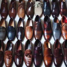The Taft shoe closet. The best socks need the best shoes www.taftclothing.com