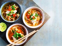 Chicken noodle soup, Finnish Food, May 2016 Life Is Beautiful Festival, Asian Recipes, Ethnic Recipes, Coachella Festival, My Cookbook, Chicken Noodle Soup, Mcdonalds, Pho, Japchae