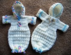 Preemie Burial/Full Term Bunting crochet pattern