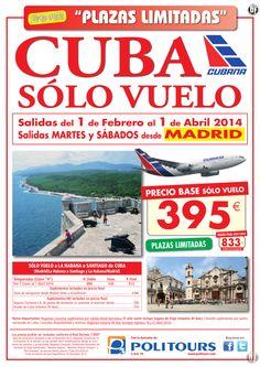CUBA - sólo vuelo -, salidas Martes y Sábados del 11/02 al 01/04 desde Madrid desde 395€ ultimo minuto - http://zocotours.com/cuba-solo-vuelo-salidas-martes-y-sabados-del-1102-al-0104-desde-madrid-desde-395e-ultimo-minuto/