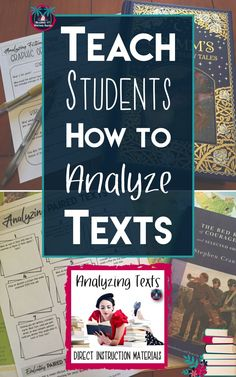Teach your students to analyze fiction and nonfiction texts as well as print and visual texts using this gradual release process. Begin with direct instruction and scaffold students to independent practice using a wide array of engaging analysis activities. Perfect for high school classrooms. Analyzing texts lesson or complementary activities for your existing curriculum from Reading and Writing Haven.