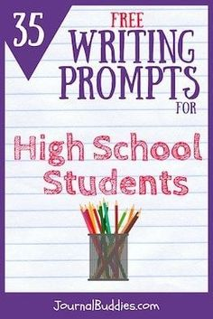 A unique set of 35 thought-provoking writing prompts especially for high school students.These prompts dig a little deeper than most so check them out today!
