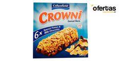 Barritas de cereales con base de chocolate -  Barritas de chocolate y cereales de la marca Crownfield una de las marcas marcas del supermercado Lidl. Esta marca la forma un surtido de cereales para todos los gustos. Cuenta con cereales ricos en fibra como centeno, trigo avena, frutos secos y frutos deshidratados. Barritas de cerales... #Lidl, #Productosdestacados  #Crownfield, #Crowni, #Nutrisun Ver en la web : http://ofertassupermercados.es/barritas-cereales-base-chocola