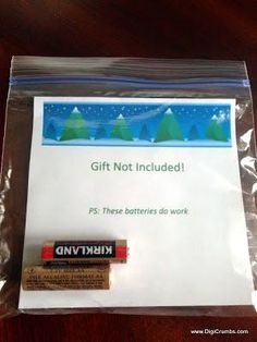 21 laugh out loud white elephant gifts (for this one, maybe add 'instructions inside ->' to the PS and add a gift card )