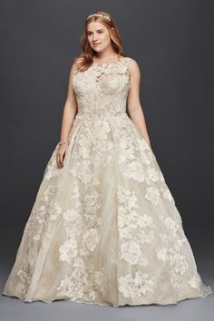 4d9bb6523 See more. Oleg Cassini Tank Lace Wedding Dress with Beads 8CWG658 Lace  Wedding