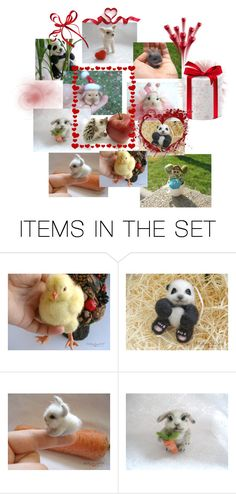 """""""My  Needle felted animal handmade products . of exclusive gift"""" by hobby-shop ❤ liked on Polyvore featuring art"""