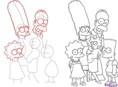 simpsons draw
