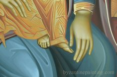 Icoana pictata Maica Domnului cu Pruncul. MOTHER OF GOD-ICON PAINTED FOR ICONOSTASIS. DUMITRESCU STUDIO ICONOGRAPHY (2) Painting, Maria