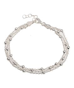 Loving this Sterling Silver Ball & Anchor Bracelet on #zulily! #zulilyfinds