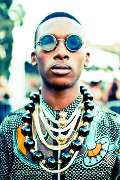 AFRO PUNK 2013 BOYS VOL.2 - marijbrooklynphotography #glasses #patternedshirt #jewellery