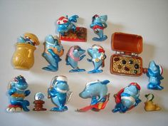 Kinder Surprise Set Squalibaba Oriental Doplhins 1995 Figures Collectibles | eBay