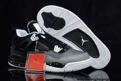 Buy New Stealth Oreo Air Jordan 4 (IV) Sports Shoes Shop