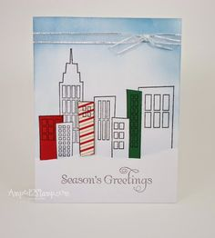 Great use of a non Christmas for a Christmas card.  A Muse Studio stamps are so versatile!!!