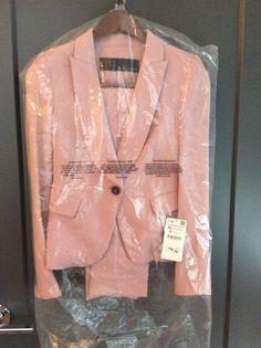 Zara Blush Pink Pants Suit Set - Blazer and Pants - XS - New with tags 39c79c343e138